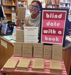 Our Blind Date with a Book display went up in mid-January and was just so much fun!