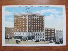 Danville, VA - Hotel Danville Danville - Postcard - 8.25.1938.