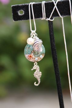 For the Love of the Ocean Sterling Silver Lampwork by chuckhljal, $50.00