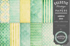 Printable Papers - Sublime Lime by Eclectic Anthology on Creative Market