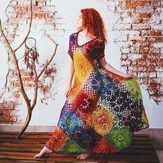 Imagem de colors, crochet, and dress