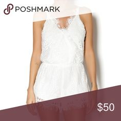 White lace romper Very flattering and super cute! Purchased from a boutique but listed for views Tobi Dresses