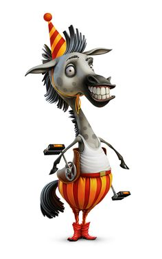 cartoon characters horse Jerika on Behance Character Concept, Character Art, Concept Art, Cartoon Drawings, Cartoon Art, Character Illustration, Illustration Art, Illustrations, Cute Monsters