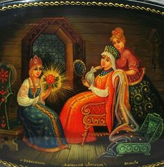 "Lacquer Box ""Three Sisters"""