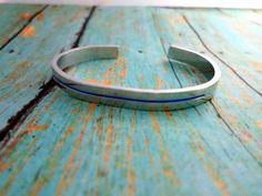 Thin Blue Line Bracelet Cuff, Police Wife, Police Officer, Bangle Bracelet, Back the Blue, Blue Lives Matter, LEO Family, Police Support