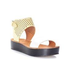 Marc Jacobs Sandales en cuir - jaune Sandales Cuir, Sandales Plates,  Chaussures Compensées Femme 2fa961c29c50