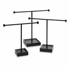 Bronze Jewelry Tree Stand (Set of 3) - BedBathandBeyond.com