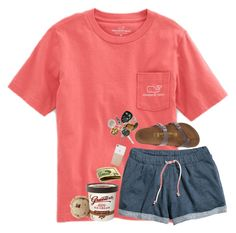 """""""•Late night runs•"""" by lindonhaley ❤ liked on Polyvore featuring Vineyard Vines, H&M, Birkenstock and Kate Spade"""