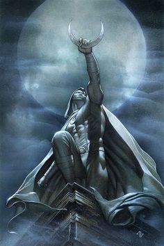 Moon Knight by Adi Granov - One of the very best costume designs ever.  (Follow the link and I'll show you the others!)