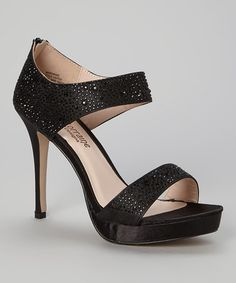 Black Satin Maryanne Sandal by Lauren Lorraine #zulilyfinds