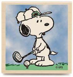Golfing Snoopy. Everybody like Snoopy, especially when he golfs.