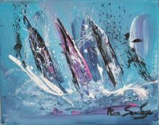 tableau contemporain abstrait de l'artiste peintre ame sauvage http://www.amesauvage.com/artiste-peintre-contemporain-2/tous-les-tableaux/peinture-abstraite-mer.html