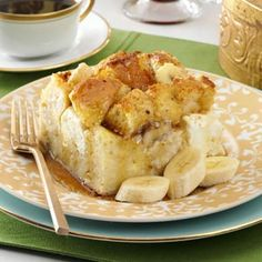 Baked Banana French Toast Recipe from Taste of Home -- shared by Nancy Zimmerman of Cape May Court House, New Jersey