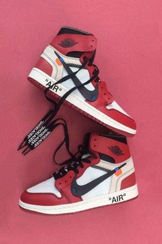 6c8a72f31ac Mens size Nike Off-White Air Jordan 1 Red / OW fake sneakers