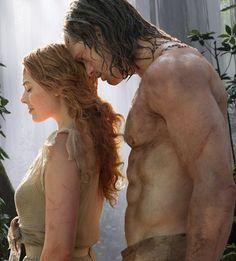 """Alexander Skarsgård y Margot Robbie en """"La Leyenda de Tarzán"""" (The Legend of Tarzan), 2016"""
