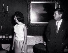 """hyannis-port-tanned: """"1962: JFK & Jackie in the Green Room at the White House """""""