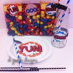 Super hero party products oh goodie designs