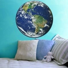 Planet Earth Large Vinyl Wall Decal