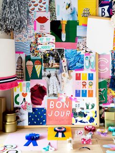 Colorful home office space + creative workspace! Kara Hynes · Lulu Lucky — The Design Files Inspiration Wand, Inspiration Boards, Office Decor, Home Office, Uni Room, Room Goals, The Design Files, My New Room, Wall Collage