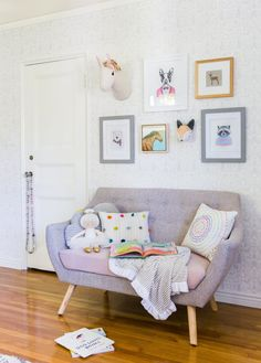 Hey all, it's Ginny again with the final reveal of the cute transitional toddler bedroom I introduceda few weeks ago (click through in case you missed it). And here it is! To our absolute delight, the clients wanted to doa wallpaper in here, so that was the first thing we tackled. They loved the idea... Read More …
