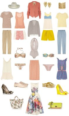 summer holiday fashion packing list.  I would like every single piece of clothing from this,  Thanks