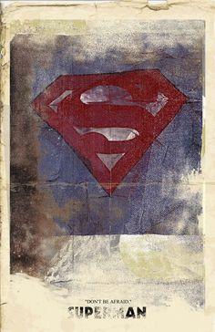 SupermanDon't Be AfraidSuperhero Poster 11x17 by bigbadrobot, $15.00