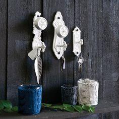 Victorian Doorplate Hooks- set of 3