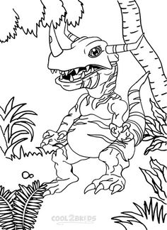 Printable Digimon Coloring Pages For Kids | Cool2bKids | Cartoon ...