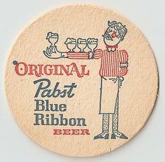 15 Pabst  Blue Ribbon Bartender  Beer Coasters