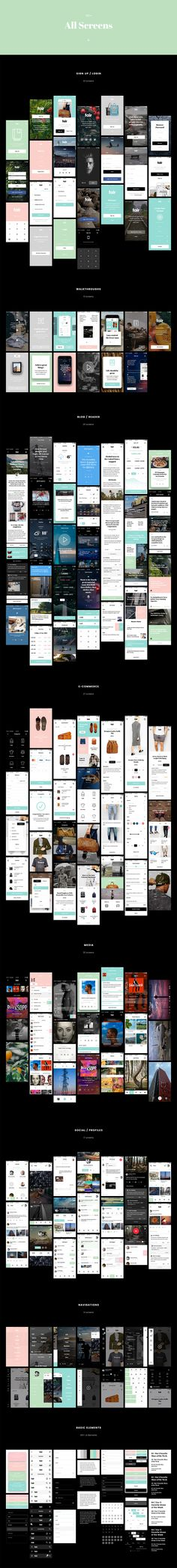 Fair UI Kit (130+ iOS screens) by Komol Kuchkarov on Creative Market
