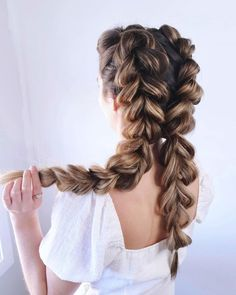 French Braid Pigtails, Loose French Braids, Dutch Pigtail Braids, Two Dutch Braids, Cool Braids, Braids For Long Hair, Summer Braids, Braids For Wedding, Hairstyle Wedding