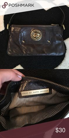 Marc by Marc Jacobs Clutch Brown leather clutch with handle Marc by Marc Jacobs Bags Clutches & Wristlets