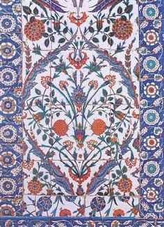 Tiles from the Blue Mosque, Istanbul.