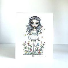 Virgo Zodiac Girl signed 8x10 pop surrealism lowbrow от mabgraves