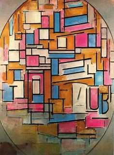 composición óvalo 1 de Piet Mondrian (1872-1944, Netherlands)