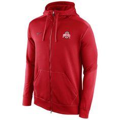 29a10381395b Ohio State Buckeyes Nike KO Chain Fleece Full Zip Performance Hoodie –  Scarlet Football Gear