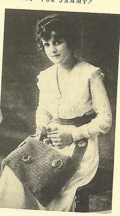 Victorian era knitting bag.
