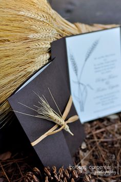 Design Spotlight – Country Chic Wedding Invitation | Brittany Carpenter Photography Wheat