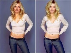 cameron diaz photoshopped..... super interesting little article, especially the last part about the 'extreme thinness dilemma' in media