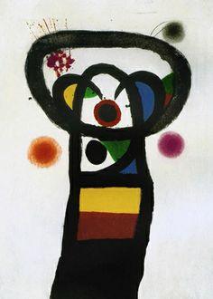 """Joan Miró. Grabado al Aguatinta, Carborundum y Punta Seca. """"Le Poète Assassiné"""". 1981-1990. 141 x 96 cm. Edición de 60 ejemplares. Numerado a mano. Firma en sello (como toda la serie). Certificado por Emilio Fernández Miró. Sello de la Sucessió Miró al dorso. Precio: 18.000 €"""