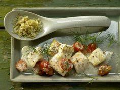 Zander-Tomaten-Pfanne mit Senfsauce: Das Fischgericht ist eiweißreich und gut verträglich. Fantastisch mit Senfsauce und Dill