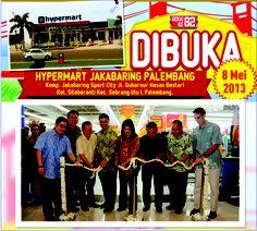 Pembukaan Gerai ke-82, Hypermart Jakabaring Palembang 8 Mei 2013