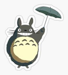 'Fliegt Totoro' Sticker by seingalad Anime Stickers, Kawaii Stickers, Cute Stickers, Studio Ghibli, Anime Disney, Rick And Morty Stickers, Note Doodles, Bubble Stickers, Snapchat Stickers