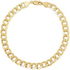 Fine Jewelry Made In Italy Mens 9 Inch 14K Gold Chain Bracelet RAQs1j
