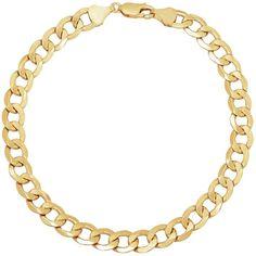 Fine Jewelry Made In Italy Mens 9 Inch 14K Gold Chain Bracelet 2RBGca