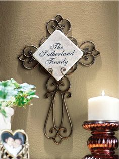 Personalized Wrought Iron Cross Only $17.95   FREE Store Pickup!