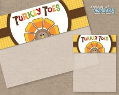 7069f007 Turkey Toes, DIY Thanksgiving Bag Toppers, Editable Treat Bag Labels,  INSTANT DOWNLOAD printable