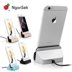 NganSek Dock Pour Apple iPhone 5 5S SE 6 7 6 s Plus 7 Plus Data sync Charge Dock Station Chargeur De Bureau D'accueil USB câble