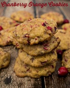 Cranberry Orange Cookies - Tangy Cranberries and Pecans with a hint of orange make these cookies perfect for the holidays. Candy Recipes, Cookie Recipes, Dessert Recipes, Desserts, Pumpkin Recipes, Fall Recipes, Holiday Recipes, Thanksgiving Food Crafts, Cranberry Orange Cookies