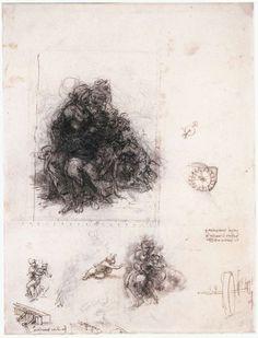Her ser vi hvordan Leonardo tegner disse figurene med en sans for helheten og…